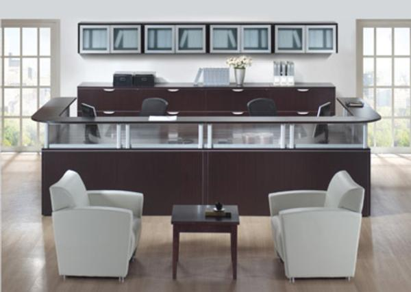 Hoppers Office Furniture Double Wide Reception Desk