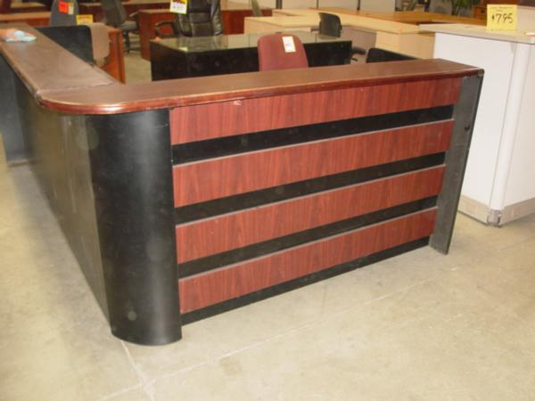 used wood veneer reception station