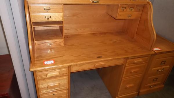 Hoppers Office Furniture Used Classic Roll Top Desk