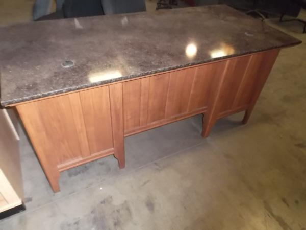 Hoppers Office Furniture Used Double Pedestal Desk