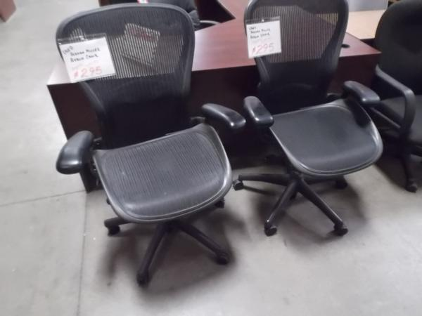 Hoppers Office Furniture Used Herman Miller Aeron Task Chairs