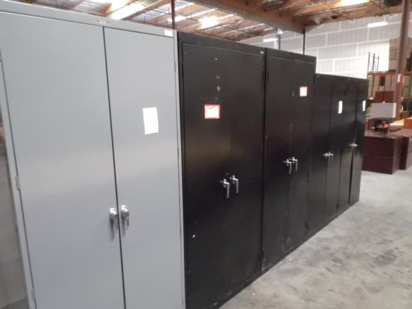Used Metal Storage Cabinet >> Hoppers Office Furniture Used Metal 2 Door Storage Cabinets