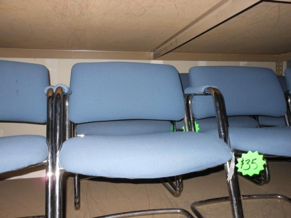 Hoppers Office Furniture Used Metal Frame Guest Chairs