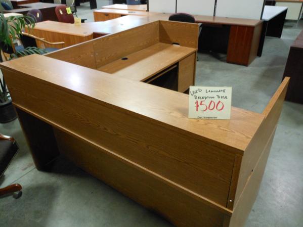 Used Office Furniture Reception Desks