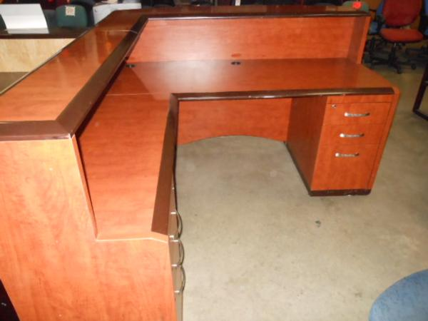 Hoppers Office Furniture Used Reception Desk