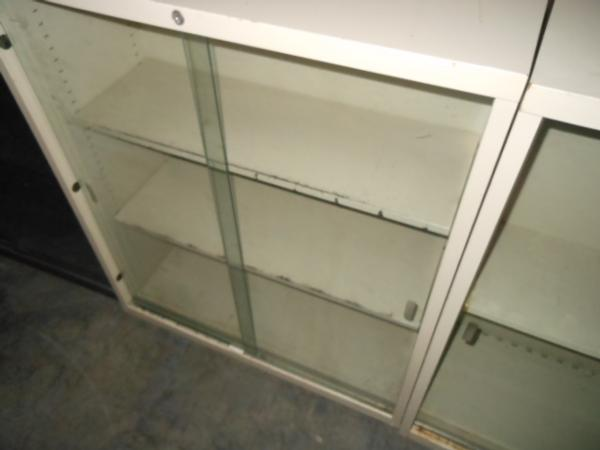 Hoppers Office Furniture Used Metal Bookcases W Glass Doors