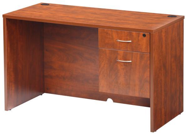 Hoppers Office Furniture Laminate Single Pedestal Desk 48