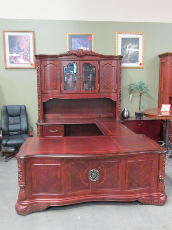 Hoppers Office Furniture Used Aico Executive Desk