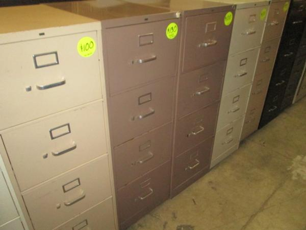 Used 4 Drawer Legal File Cabinets Item #382