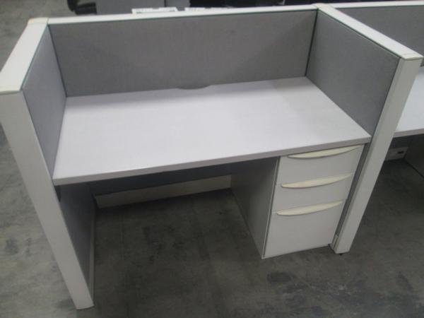 Hoppers office furniture used modular work station for Used modular furniture