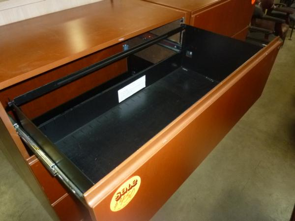 Hoppers Office Furniture Wood Veneer 4 Drawer Lateral Files